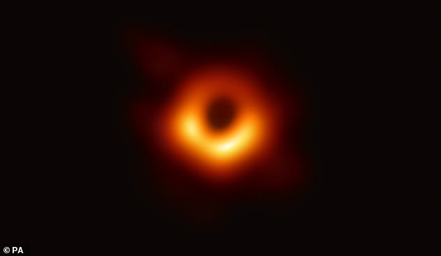 This specific black hole is the same one researchers with the Event Horizon Telescope (EHT) used to create the first-ever image of a black hole in 2019, which was shown as a fiery ring of gas around a dark central - the black hole itself.