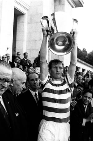 Celtic's captain Billy McNeill lifts the European Cup in 1967.