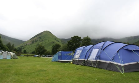 Sykeside campsite, in the Lake District