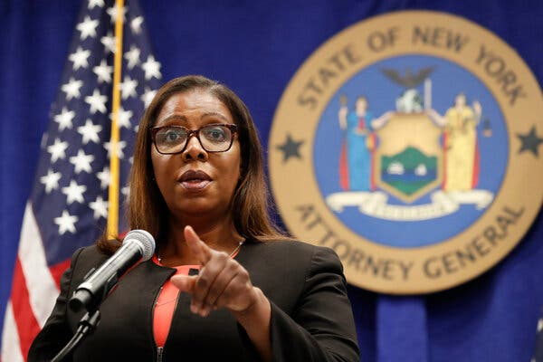 Letitia James, the attorney general of New York, said that if the seven states file a case, they would move to consolidate it with the Department of Justice's.