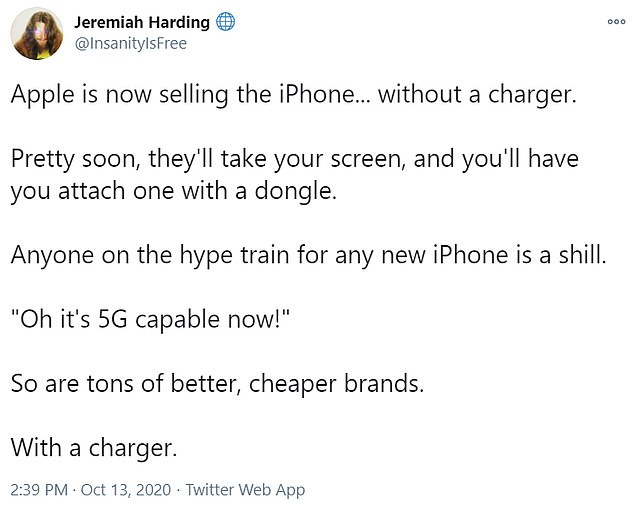 On Twitter, iPhone users expressed their anger over Apple's decision to stop shipping chargers and EarPods with new phones