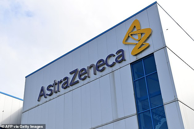 Oxford and Brazilian health authority Anvisa say testing will continue and that there are no safety concerns. Pictured: AstraZeneca's offices inMacclesfield, Cheshire, England, July 21