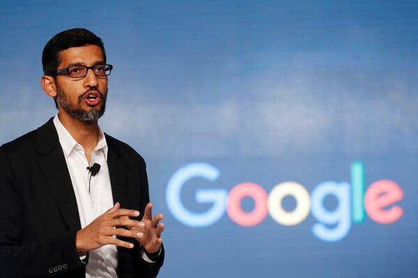 Sundar Pichai, Google's chief executive, sent emails to employees with advice about the antitrust suit.