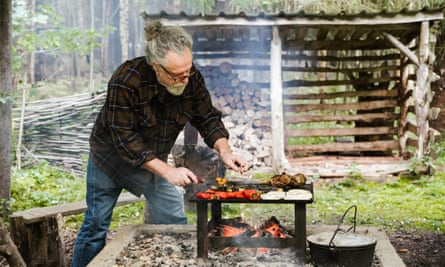 Chef Chris Bax: 'A cooking fire doesn't just add heat; it adds flavour'.