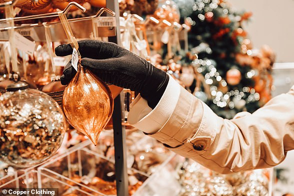 Pictured: Copper Clothing's gloves, which help to deactivate coronavirus particles
