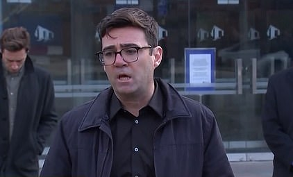 Andy Burnham (pictured at a press conference today) demanded £65million in business support and there was no breakthrough in the row