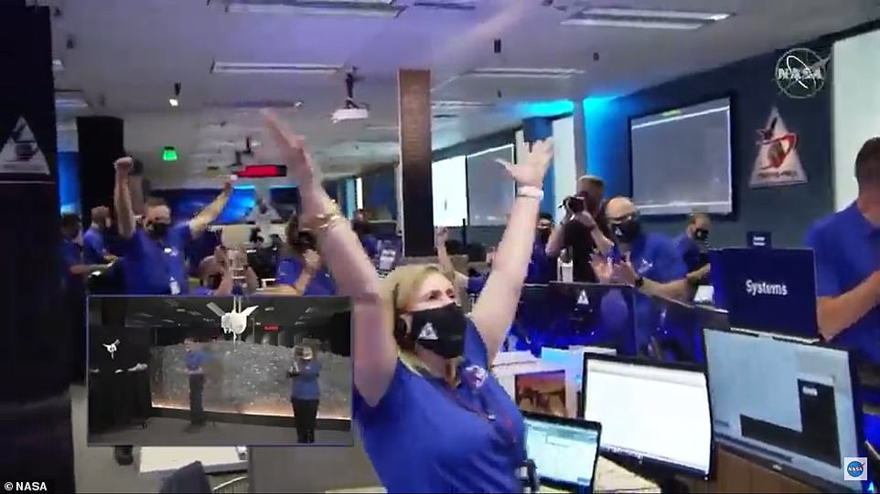 By the time flight controllers heard back from Osiris-Rex, the action already happened 18 1/2 minutes earlier, the time it takes radio signals to travel each way between Bennu and Earth. However, it will take a few days before scientists can declare the mission a complete success. Right now they say the spacecraft executed its instructions as planned but it's not clear how much material was actually collected
