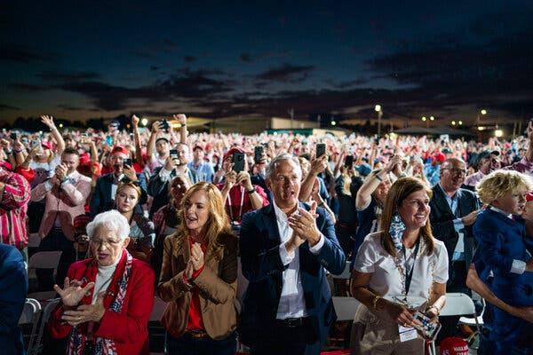 A Trump rally in Gastonia, N.C., on Wednesday. Some of the demographic groups that powered Donald Trump's 2016 victory are shrinking.
