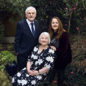 Joan Salter with her husband Martin and her daughter Shelley.