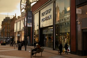 A Topshop branch in Leeds, West Yorkshire, last night