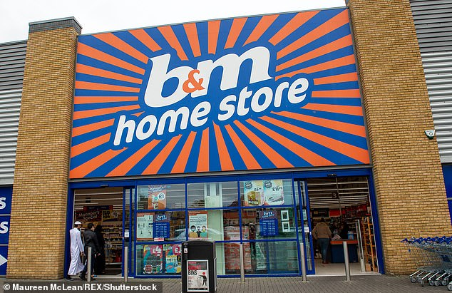 Lockdown winner: Budget retailer B&M Bargains handed out £204.1m of 'surplus' cash to shareholders after reporting booming sales during the pandemic.