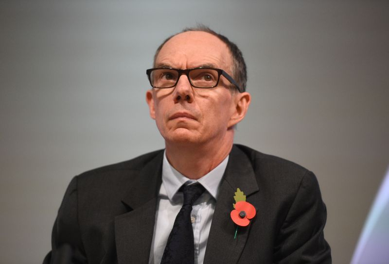 © Reuters. Bank of England Deputy Governor for Markets and Banking, Dave Ramsden attends a Bank of England news conference, in the City of London