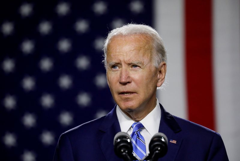 © Reuters. FILE PHOTO: Democratic U.S. presidential candidate Biden holds campaign event in Wilmington, Delaware