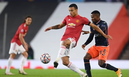 Mason Greenwood attacks during Manchester United's comfortable win at Old Trafford