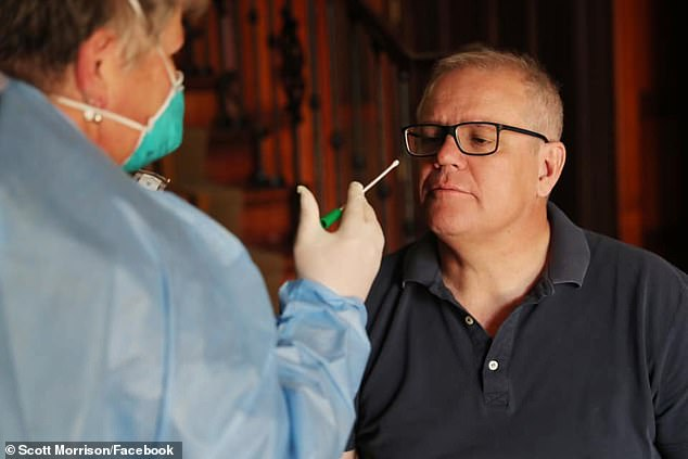 CDC officials are finalizing new guidelines suggesting people quarantine for between seven and 10 days rather than 14 days. Pictured: Scott Morrison in isolation