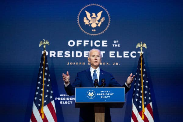 The U.S. Chamber of Commerce expressed hope thatPresident-elect Joseph R. Biden Jr. would be able to break political gridlock in Washington.