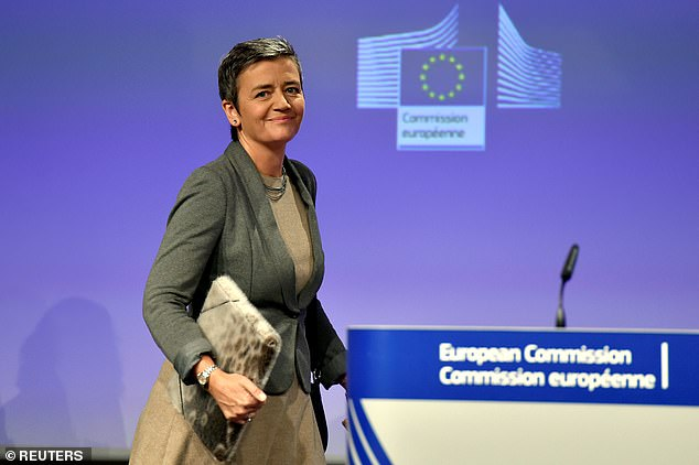 EU competition commissioner Margrethe Vestager (pictured) said Amazon should not use data on third party sellers when it acts as a competitor to them
