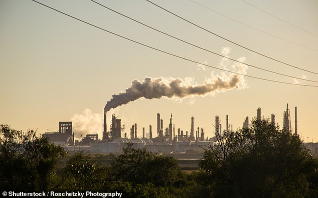 In 2020, the global average temperature was 1.2C above pre-industrial levels, making it among the three hottest years on record (factory in Texas pictured)