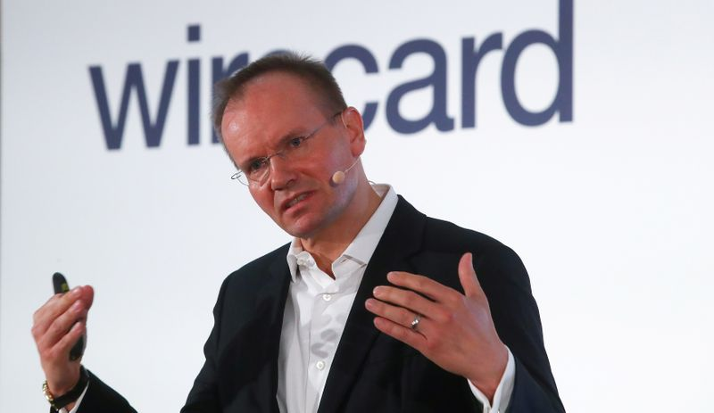 © Reuters. Braun of Wirecard AG attends the company's annual news conference in Aschheim