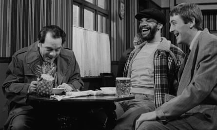 Bend it like Peckham … (l-r) David Jason, Paul Barber and Nicholas Lyndhurst in Only Fools and Horses.