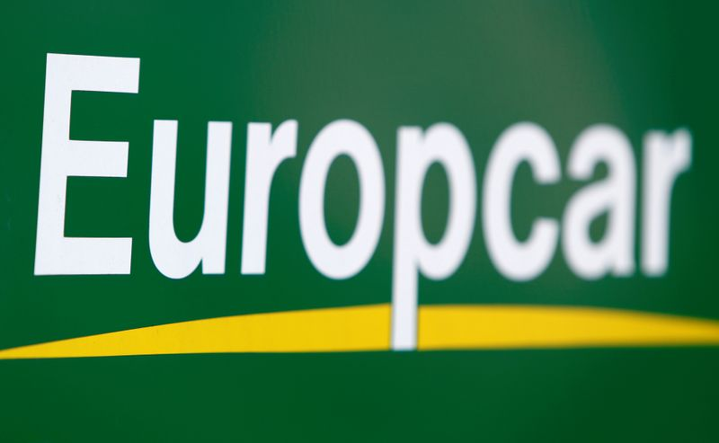 © Reuters. FILE PHOTO: The logo of Europcar rental company is pictured in Ulm