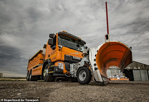 Not-very-green gritter investment: The DfT has spend £16m adding 93 new gritters to its 500-strong winter fleet of vehicles