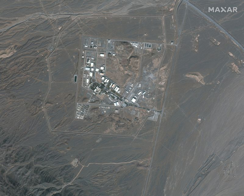 © Reuters. Satellite image shows Iran's Natanz Nuclear Facility in Isfahan