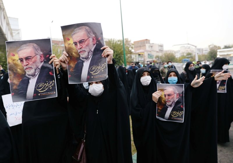 © Reuters. Anger in Iran over killing of Iran's top nuclear scientist