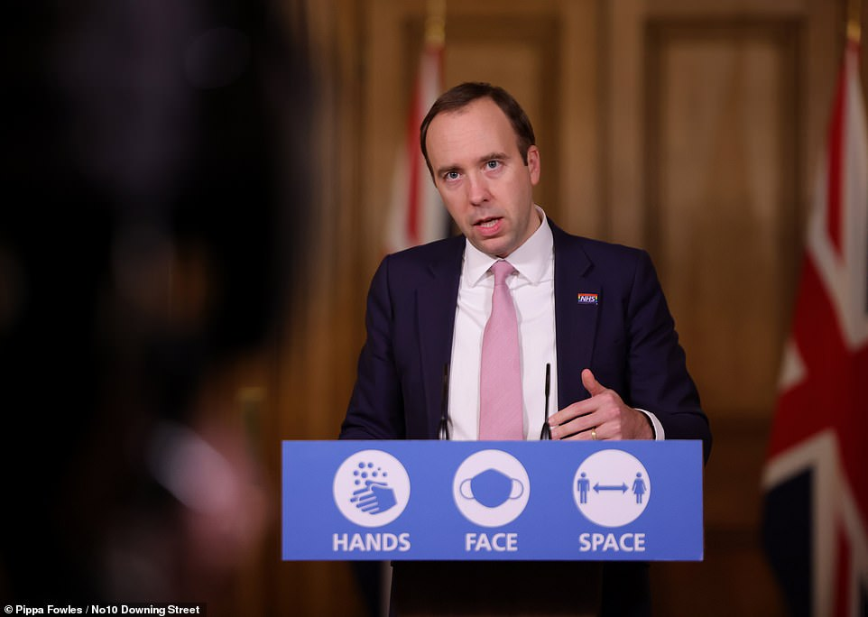 Health Secretary Matt Hancock held a TV briefing today to announce that the Government has officially asked the drugs regulator the MHRA to consider whether Pfizer and BioNTech's coronavirus vaccine is suitable to use on the public