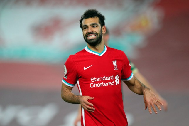 Liverpool forward Mohamed Salah is self-isolating after testing positive for Covid-19