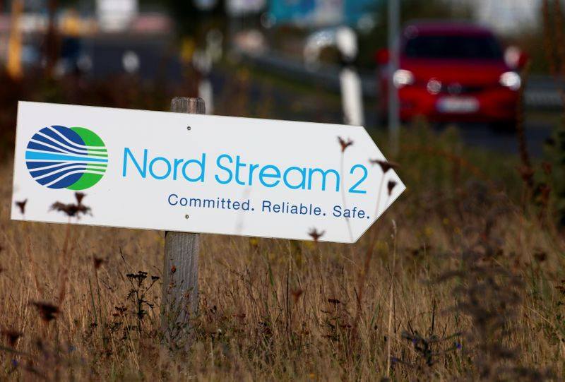 © Reuters. FILE PHOTO:  Nord Stream 2 land fall facility in Lubmin