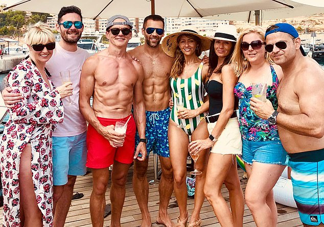 Flashing the cash: Hut Group's founder and fitness fanatic Matt Moulding (above in red shorts)