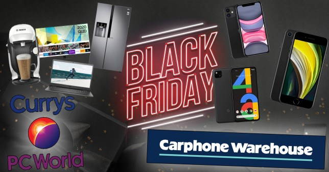 Currys PC World and Carphone Warehouse Black Friday deals