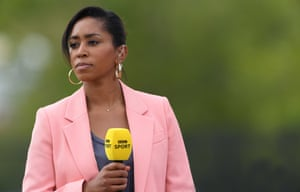 Former England player Ebony Rainford-Brent now works for the BBC.