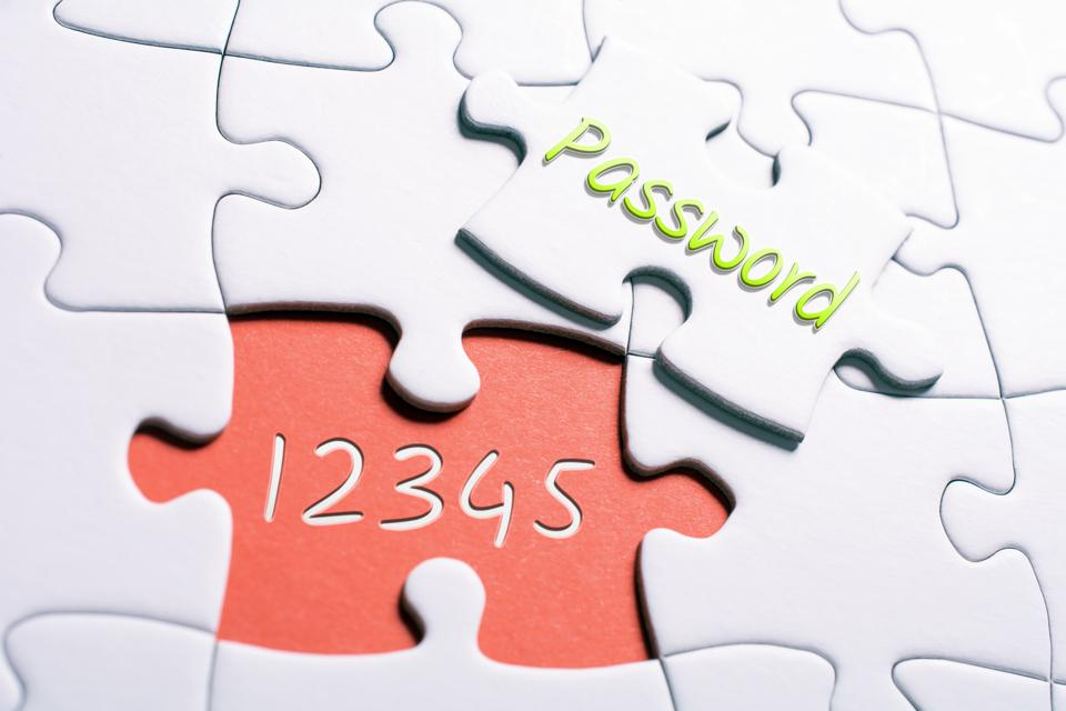 The Word Password And The Numbers 12345 In Missing Piece Jigsaw Puzzle - Insecure Password Concept