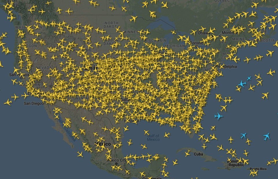 Overall, an estimated 50 million people traveled over Thanksgiving including 7 million people who flew. On Sunday alone (above), 1.18 million passed through US airports, the highest number since mid-March