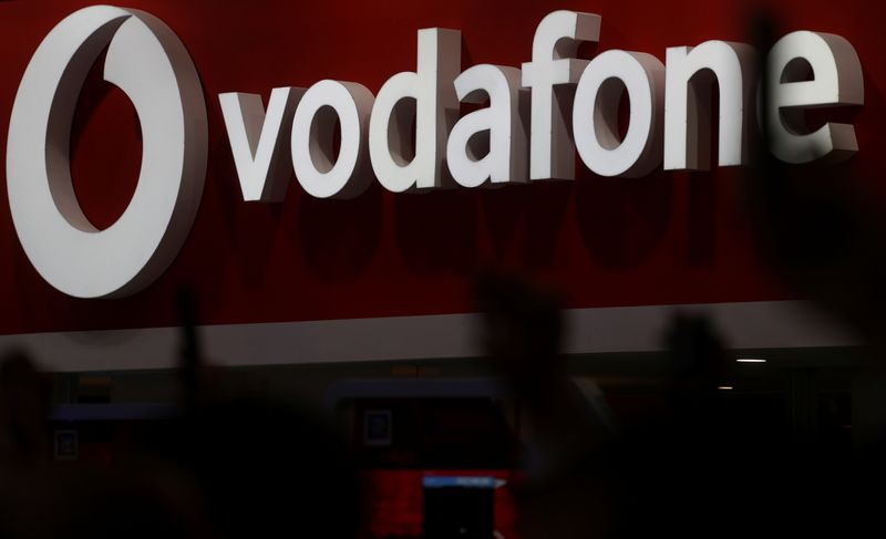 © Reuters. The Vodafone logo is seen at the Mobile World Congress in Barcelona