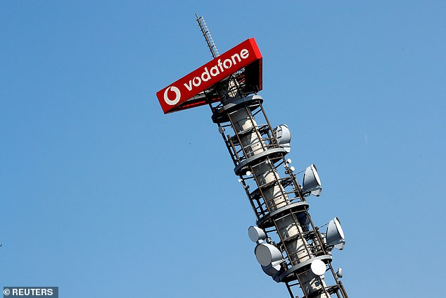 Vodafone said its mast business Vantage will seek to pay out 60 per cent of its recurring cash flow as dividends. This would be £251m for the current year to the end of March