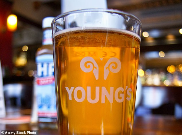 Stale beer: Pub chain Young'sswung into to a £21.8m half-year loss yesterday, compared to a £24.3m profit a year ago, after being hammered by lockdown and curfew restrictions