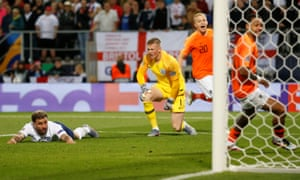 Jordan Pickford is aghast and Kyle Walker left on the ground after the latter's own goal put the Netherlands ahead in England's Nations League semi-final.
