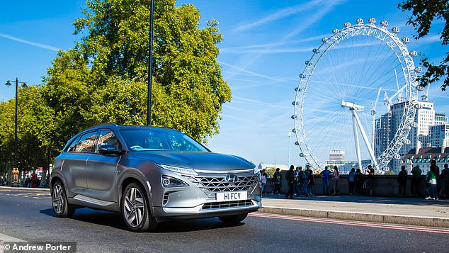Hyundai is already a big supporter of hydrogen cars and its new Nexo fuel cell car costing from £65,995 has a range of 414 miles – far more than most electric cars