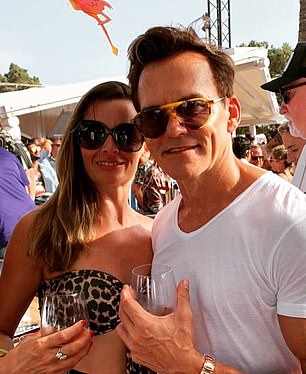 The high life:Matt Moulding with wife Jodie