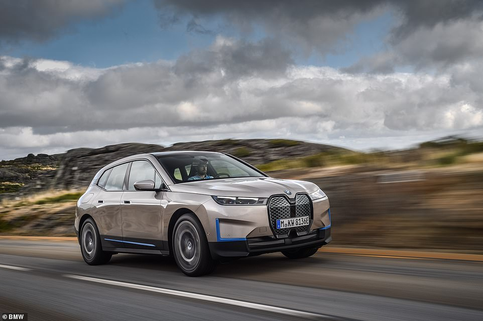 The large electris SUV will be able to accelerates from rest to 62mph in under 5 seconds and the top speed is likely to be electronically limited to 155mph - just like BMW petrol and diesel cars