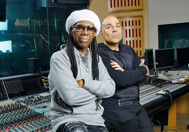 Music moguls: Merck Mercuriadis, right, co-founded Hipgnosis with songwriter Nile Rodgers of Chic (left)