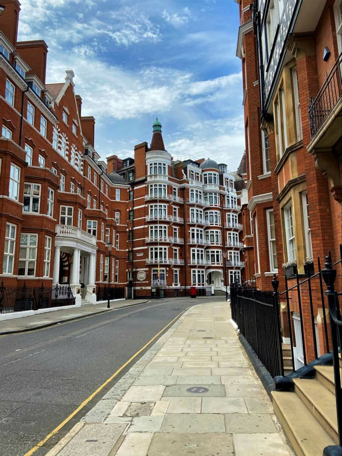 One reason for the drop in popularity of pricier flats — such as those in London's Knightsbridge area — is that Covid-19 is keeping away foreign buyers