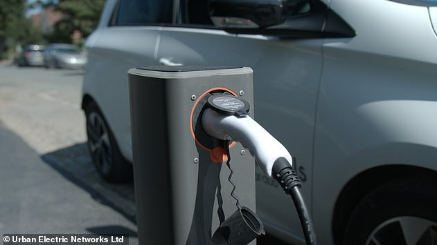The charging devices help to keep street furniture to a minimum by sinking into the tarmac when not in use