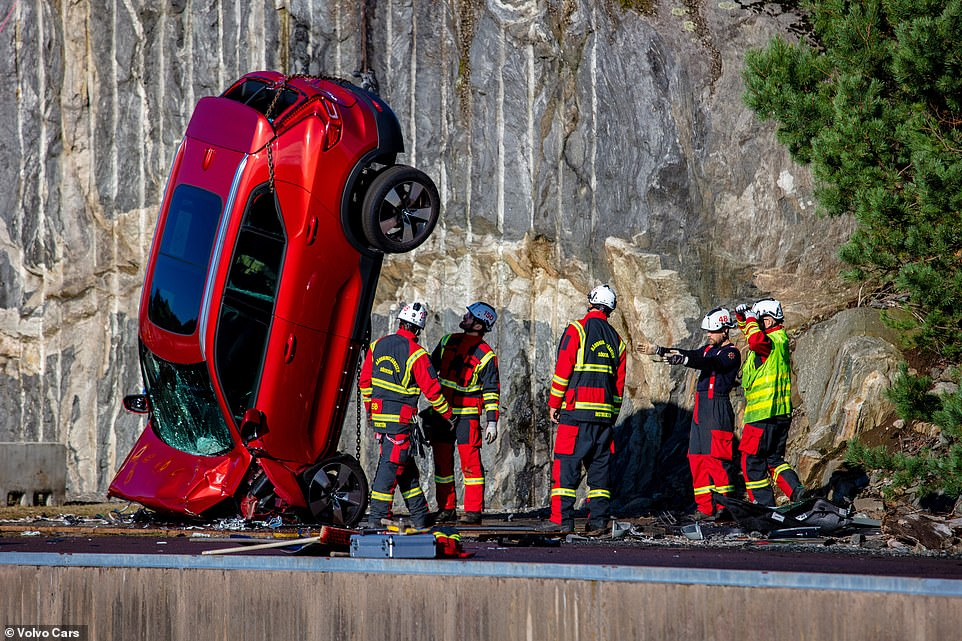Extrication specialists often talk about the golden hour: the pivotal 60 minutes to release and get a patient to the hospital after the accident has happened. The twisted-up motors were ideal subjects for specialists to practice their techniques