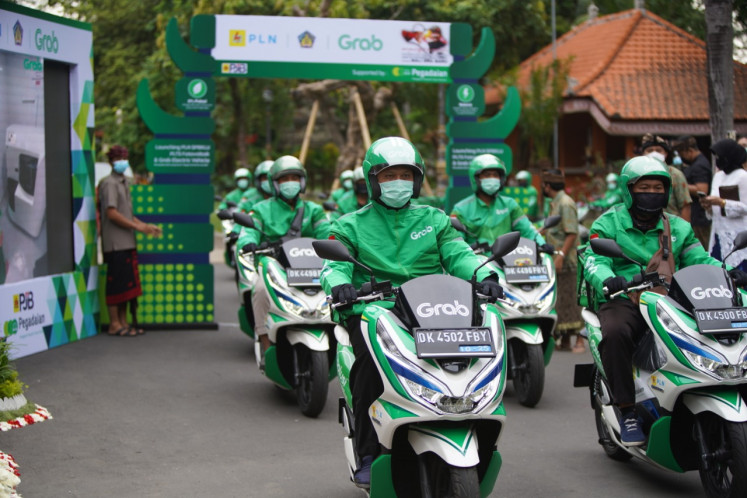 Grab has collaborated with Hyundai, Kymco, VIAR and SELIS to provide its fleet of more than 5,000 electric cars, motorcycles, bicycles and scooters across Indonesia.