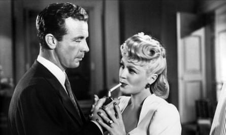 'Fresh-faced musical star to whisky-addled noir antihero' ... Dick Powell and Claire Trevor in Murder, My Sweet.