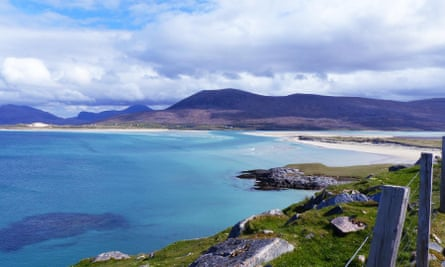 Luskentyre Beach, a few miles west of Tarbert.